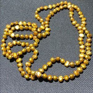 """Jewelry - HAND KNOTTED GOLD FRESHWATER PEARL NECKLACE 36"""""""